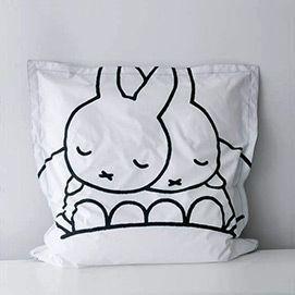 Black and White Schwarz und weiß Miffy Dreambag, ein Sitzsack Design von Mr Maria - Illustration Dick Bruna - thumbnail