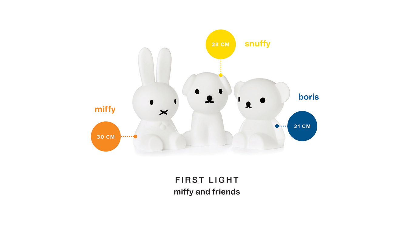 miffy and friends collection of nightlights by mr maria
