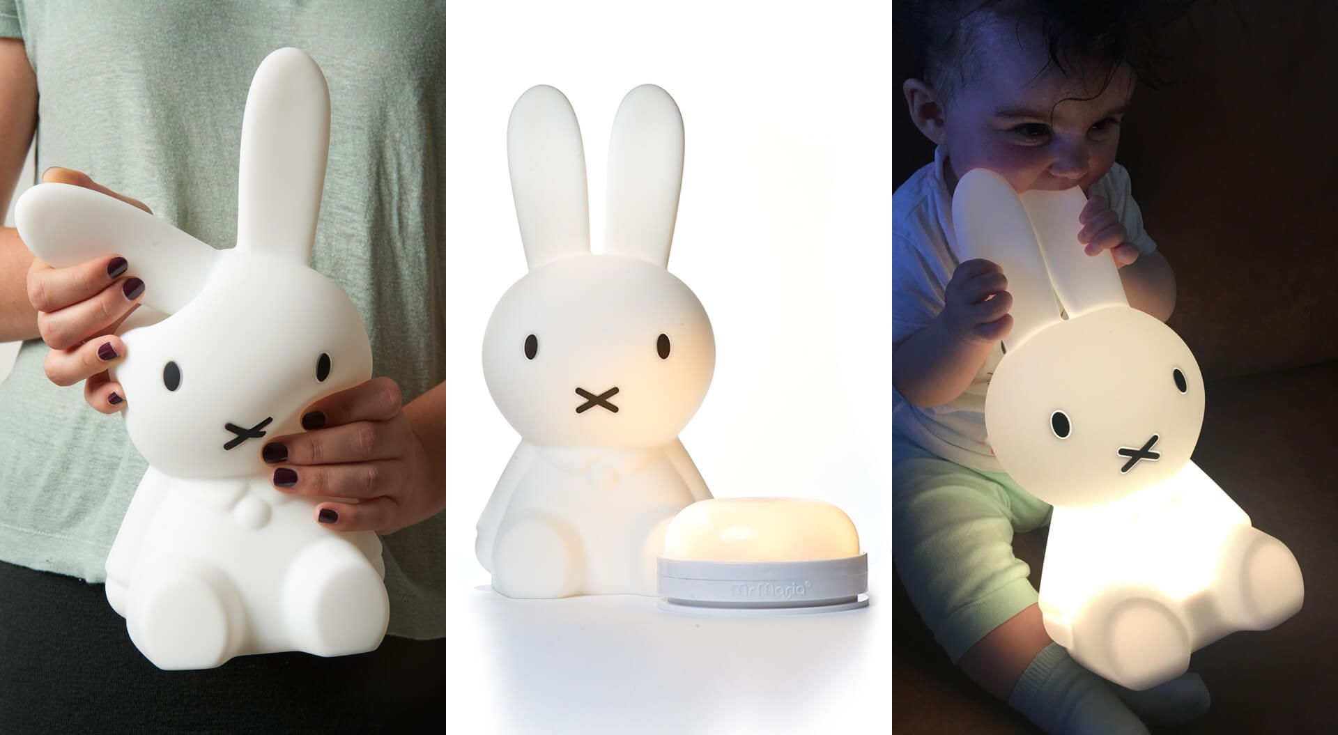 Mr Maria lamps, Miffy First Light, usb rechargeable, Soft silicone
