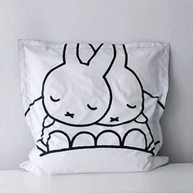 Zwart en wit nijntje Dreambag, een zitzak ontwerp door Mr Maria - illustratie Dick Bruna - thumbnail 100 x 100cm