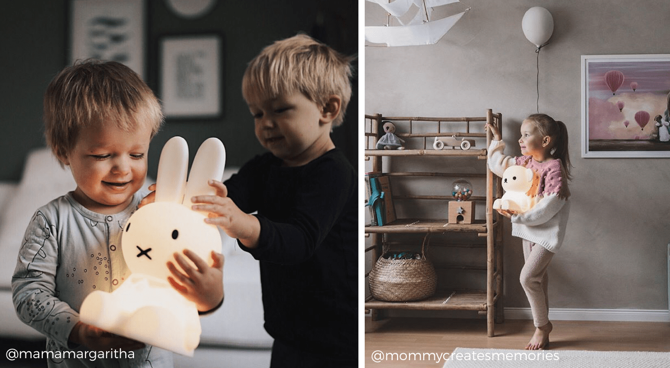 Miffy nightlight and boris nightlight